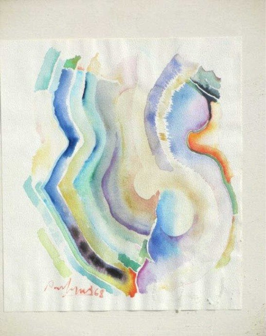 PAUL JENKINS - ABSTRACT PRISM WATERCOLOR