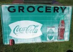 COCA COLA COKE GREEN GROCERY SIGN