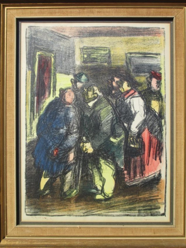 KOPMAN - IN THE ART GALLERY LITHOGRAPH