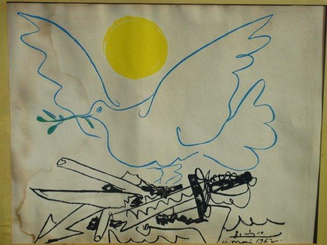 PICASSO DOVE OF PEACE 1962 SILKSCREEN