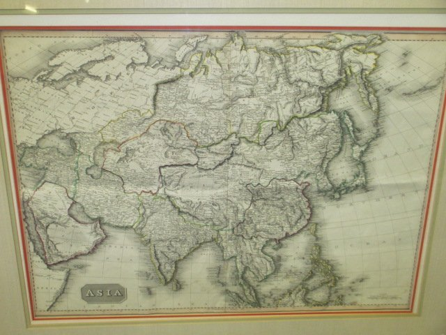 PINKERTON 1814 LITHOGRAPHIC MAP OF ASIA