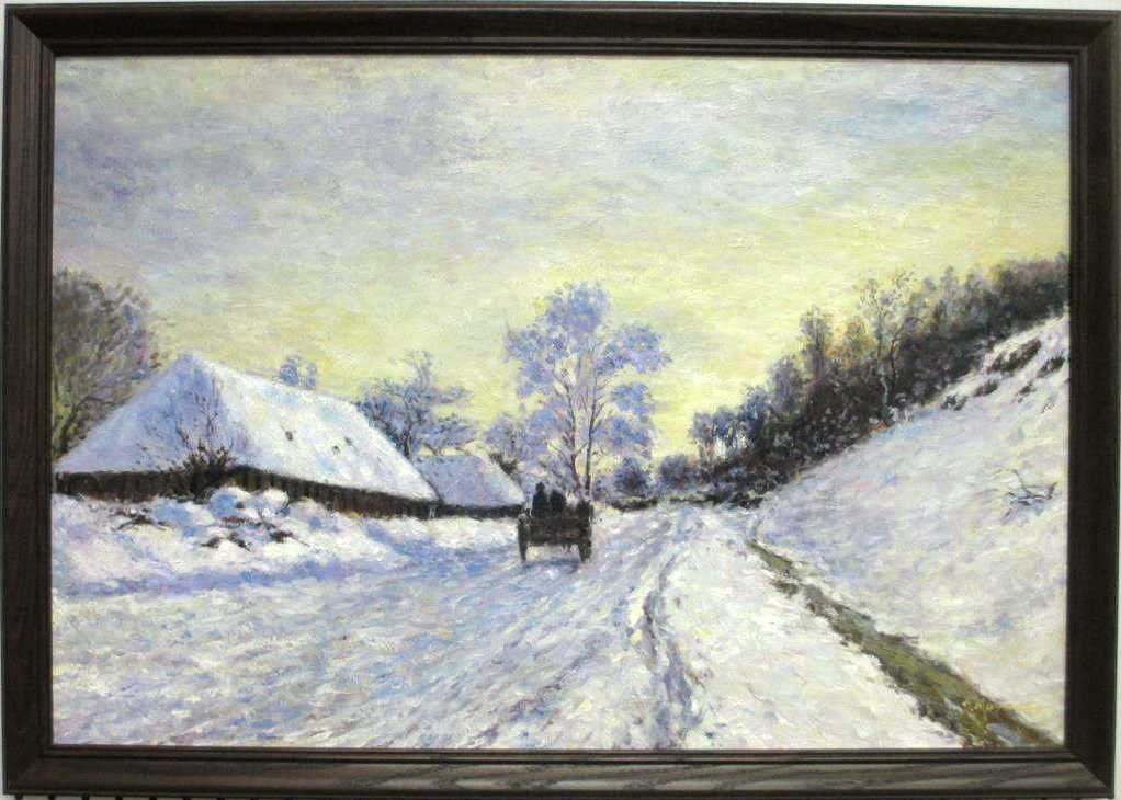 MASSON - WINTER CARRIAGE RIDE PAINTING