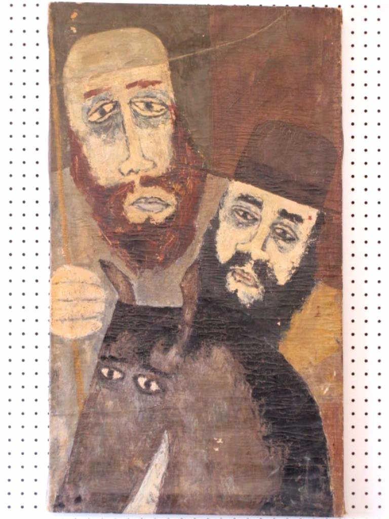 BEN SHAHN RELIGIOUS JUDAIC HOLY MEN WPA PAINTING