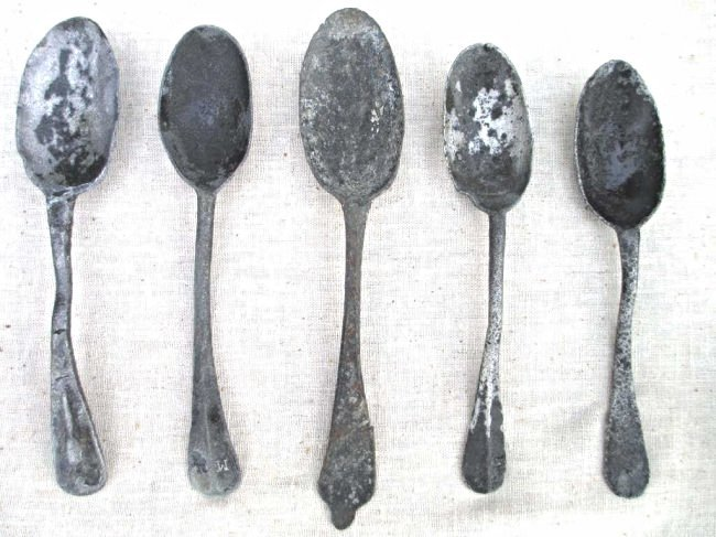 AMERICAN COLONIAL SILVER HAND FORGED SPOONS