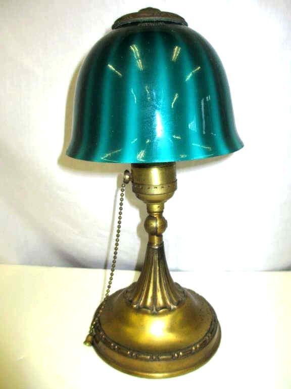 EMERALITE ART NOUVEAU BOUDOIR TABLE LAMP