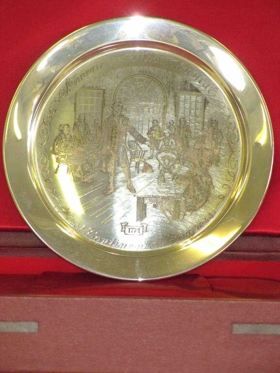 FIRST CONTINENTAL CONGRESS STERLING PLATE