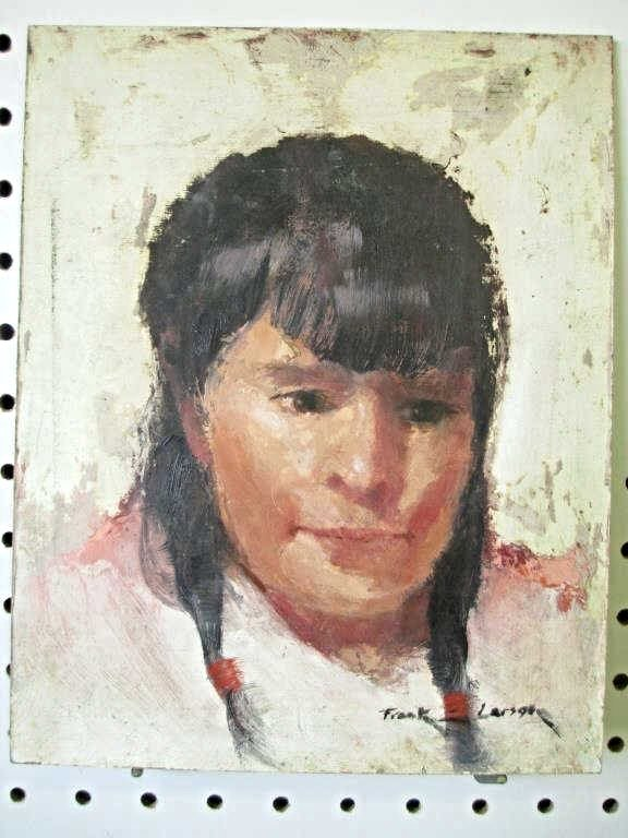 FRANK LARSON - INDIAN SQUAW PAINTING