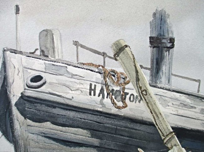 OGDEN M. PLEISSNER - HIGH & DRY HARBOR WATERCOLOR - 3