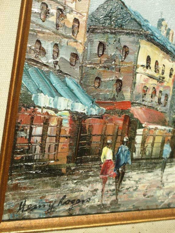 HENRY ROGERS - FRENCH STREETS PAINTING - 3