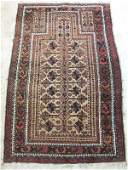SEMI ANTIQUE CAUCASIAN  PRAYER RUG