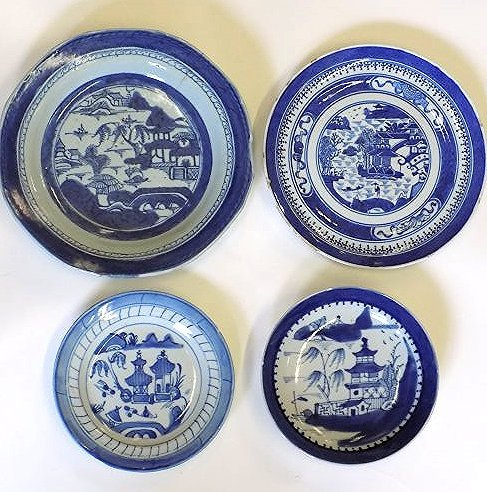 CHINESE EXPORT CANTON SCENIC DISHES