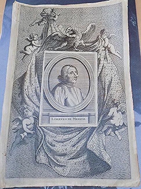 RARE 16TH CENTURY LORENZO DE MEDICUS ETCHING