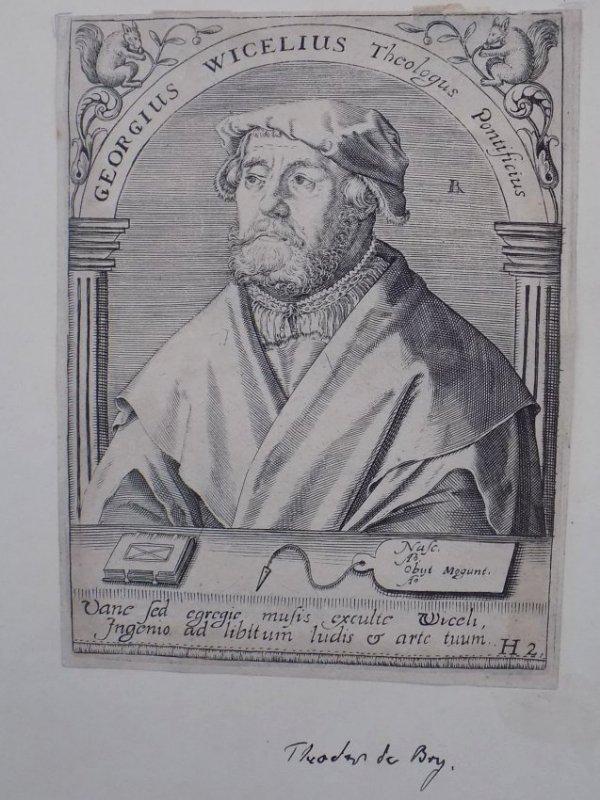 THEODOR DEBRY - GEORGIUS WICELIUS ETCHING