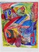 EVA ROGERS - MIDCENTURY ABSTRACT ACRYLIC ON PAPER