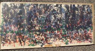 RIOPELLE - DERRIERE LE MIROIR ABSTRACT LITHOGRAPH