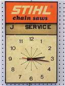 VINTAGE STIHL CHAIN SAWS ADVERTISING CLOCK Vintage