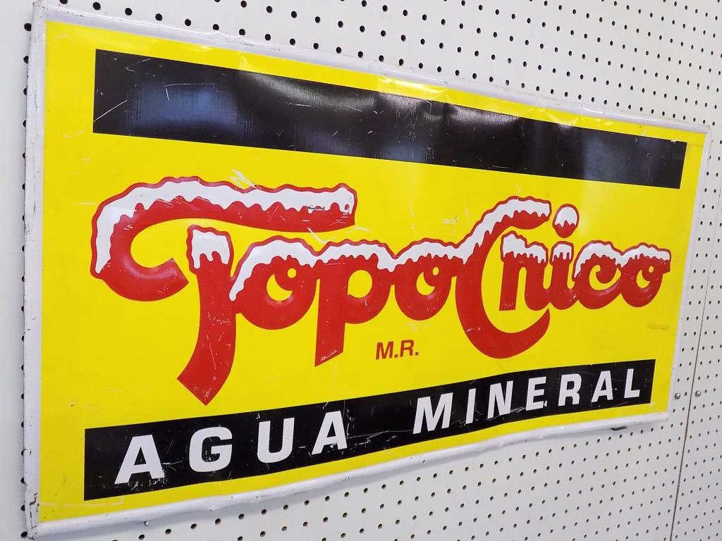 TOPOCHICO AGUA MINERAL ADVERTISING SIGN Vintage - 2