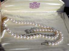 JACCARD'S VINTAGE PEARL NECKLACE Mermod Jaccard King