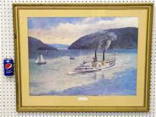 JOHN GOULD  SIGNED MARY POWELL SHIP LITHOGRAPH John