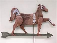 AMERICAN FOLK ART HORSE WEATHERVANE