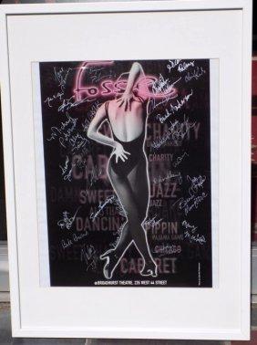 Fosse Broadway Play Poster Cast Signed Original