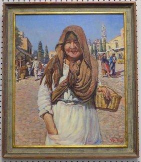 Van Felix - Spanish Lady Painting Maurice Van Felix -