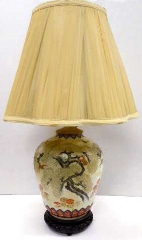 Chinese Qing Ching Period Vase Lamp 19th Century