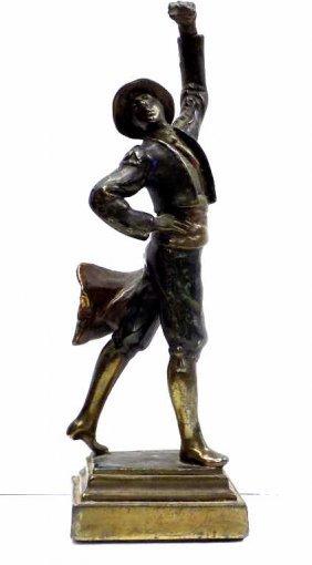 Paul Herzel - Pompeian Bronze Dancer Statue Paul Herzel