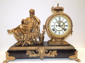 Ansonia Renaissance Figural Mantle Clock