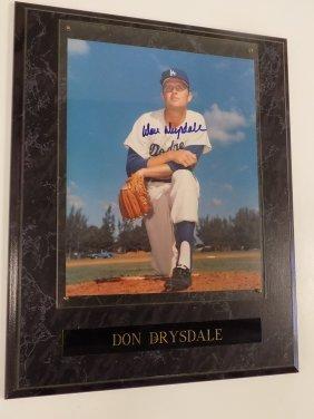 Don Drysdale Autographed 8 X 10 Photograph