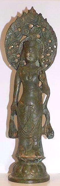19th Century Chinese Kwan Yin Bronze Buddha