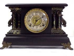 Ingraham Columnar Mantle Clock