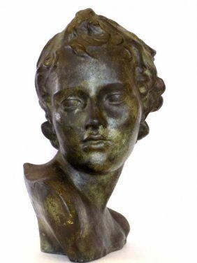 Amphora - Classical Bronzed Male Bust