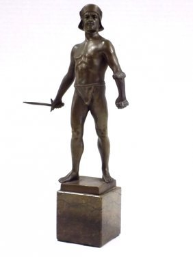 Hans Keck - Bronze Warrior Gladiator Statue