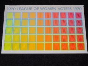 Anuszkiewicz Pop Art Women Voters Poster