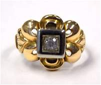 VICTORIAN 18K GOLD  DIAMOND RING