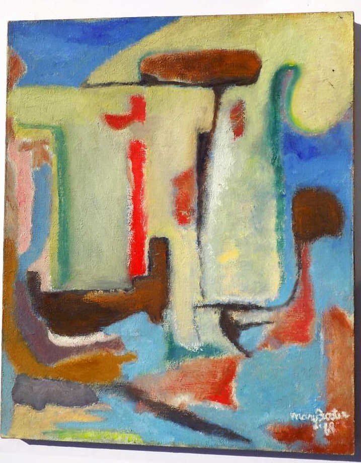 MARY FOSTER - MIDCENTURY ABSTRACT PAINTING Mary Foster