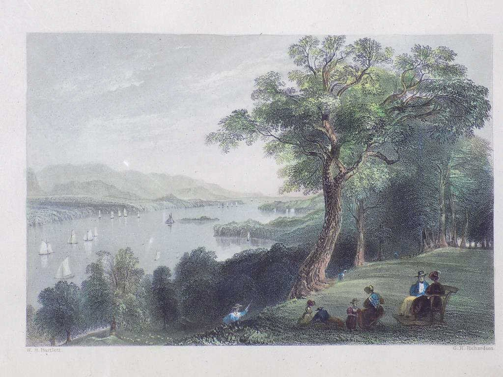 BARTLETT - HUDSON RIVER HYDE PARK ENGRAVING Geo Virtue