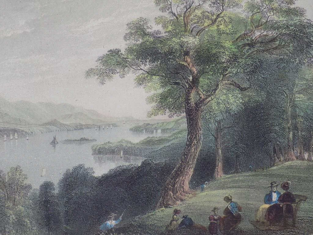 BARTLETT - HUDSON RIVER HYDE PARK ENGRAVING Geo Virtue - 2