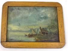 19TH CENTURY SEASCAPE PAINTING 19th Century Dutch