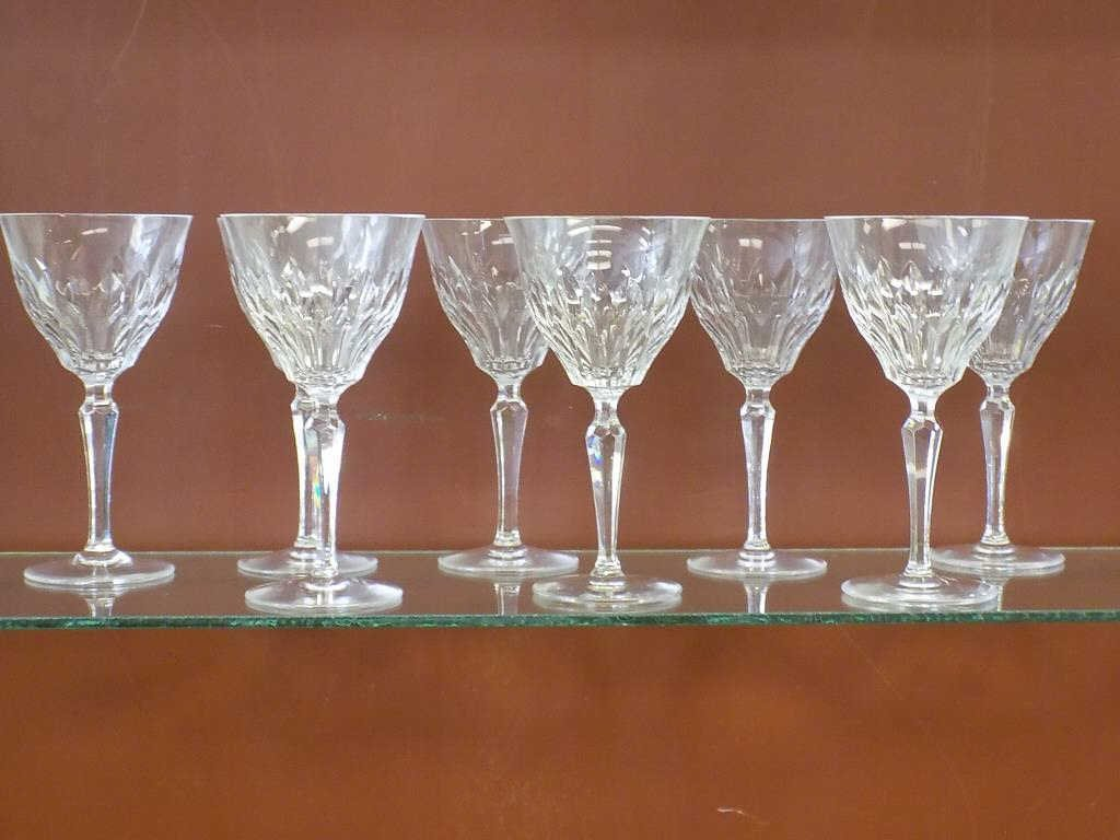 JOSAIR SET OF 6 CRYSTAL WINE GLASSES Josair set of 6