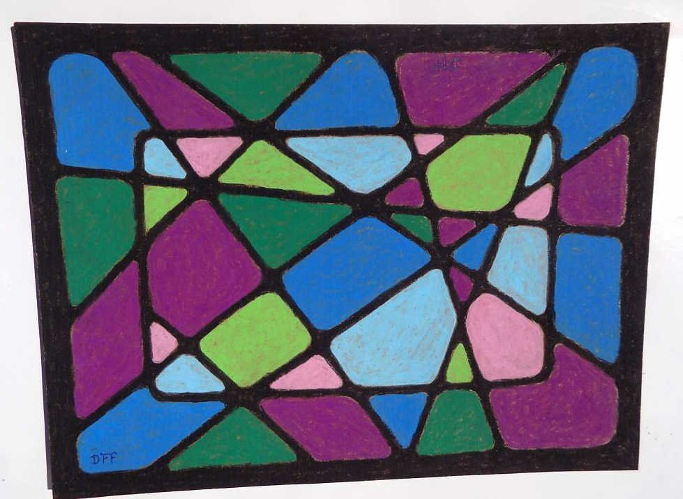 DOROTHY FOSTER - ABSTRACT PASTEL DRAWING Dorothy Foster