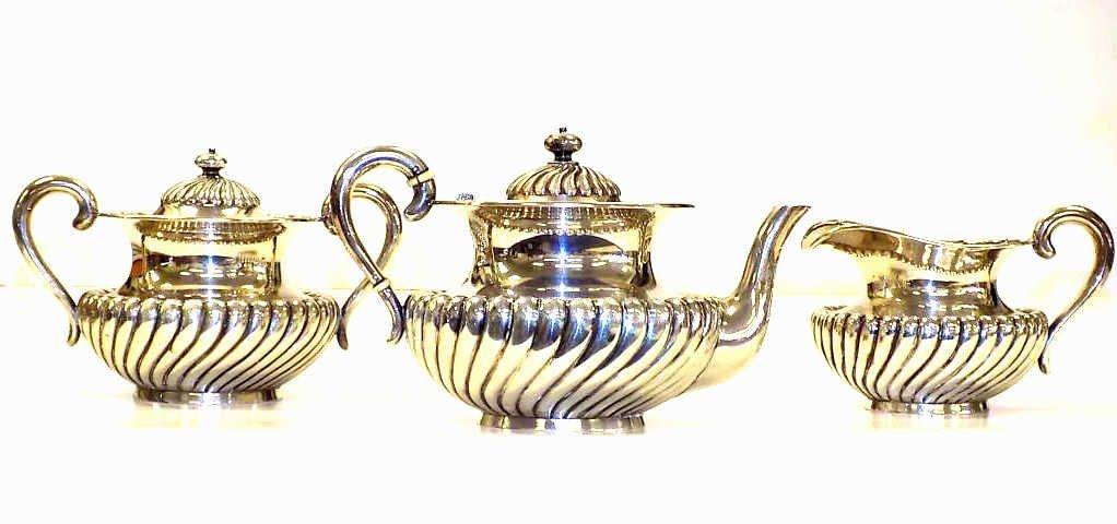 BAILEY BANKS & BIDDLE STERLING TEA SET 19th Century