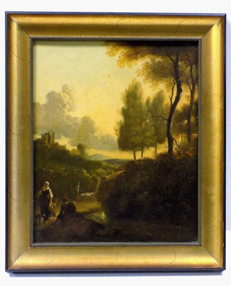 EUROPEAN LANDSCAPE OLD MASTER PAINTING 18th Century Old