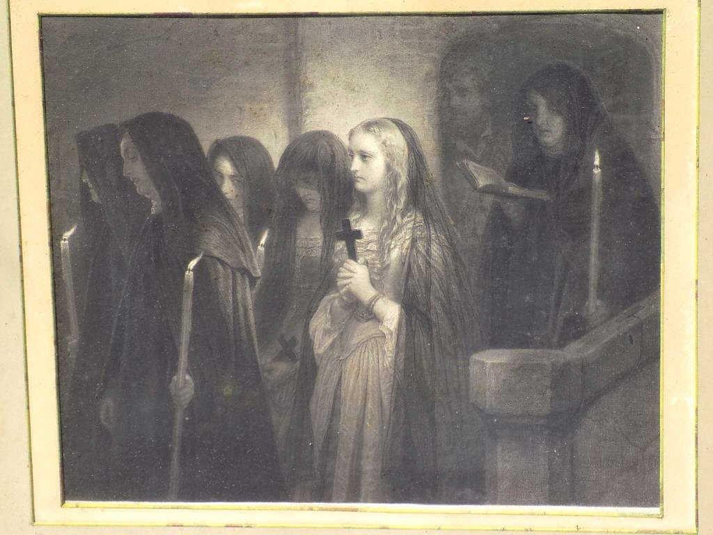 EDUARD GIRADET - RELIGIOUS MONASTERY ENGRAVING 19th - 2