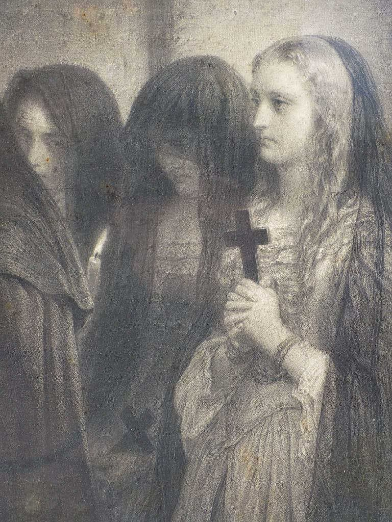 EDUARD GIRADET - RELIGIOUS MONASTERY ENGRAVING 19th - 3