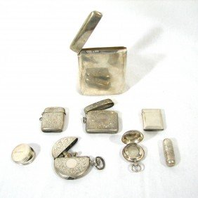 7: Sterling Silver Lot, Incl Hallmarks, 8 pieces