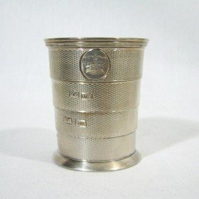 8: Vintage Sterling Silver collapsible cup. Hallmark