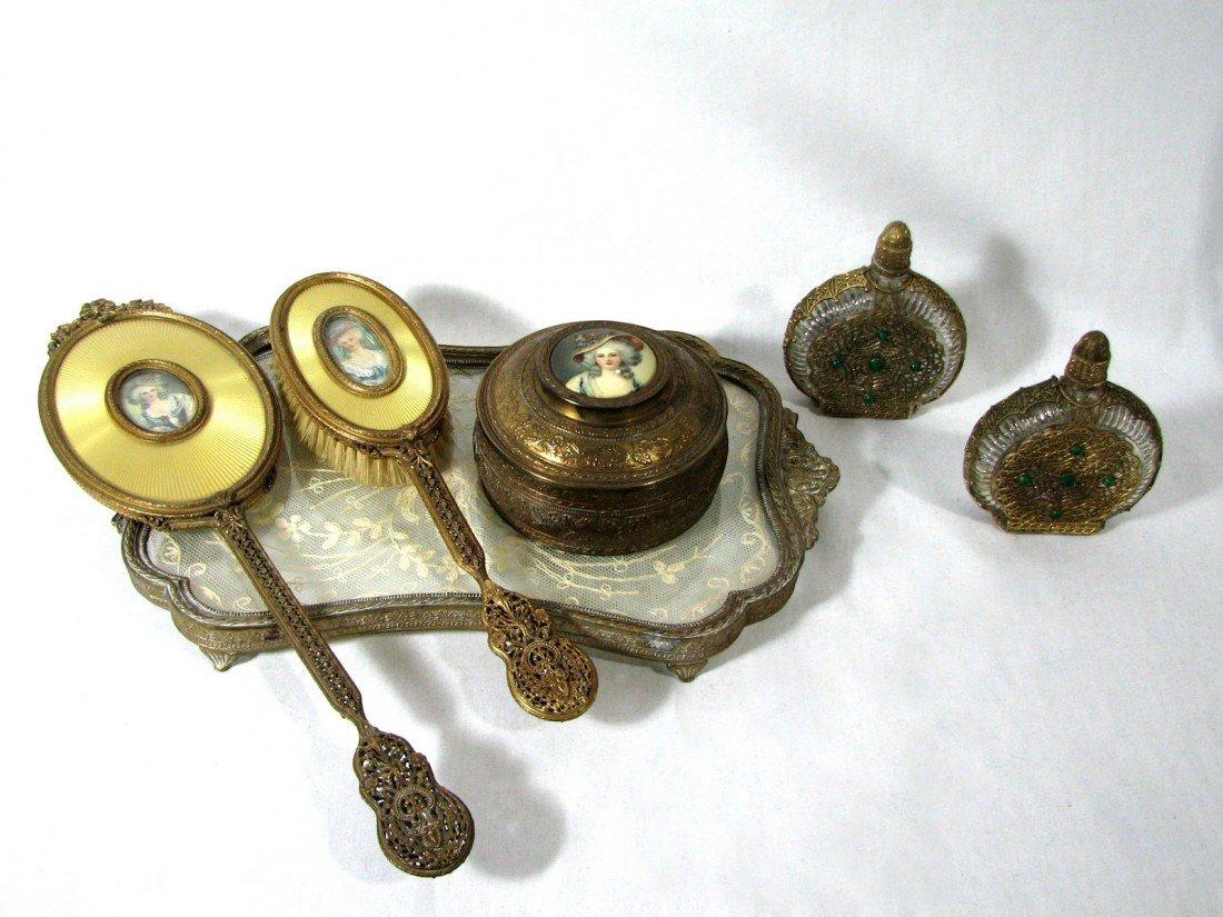 10: Antique Ladies Dresser Set