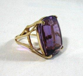 Vintage 57 Carat Amethyst Ring